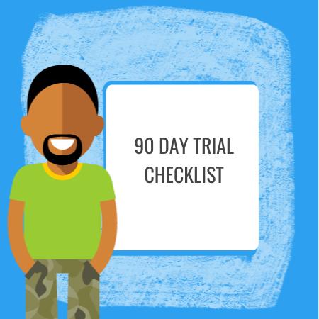 90 day trial checklist