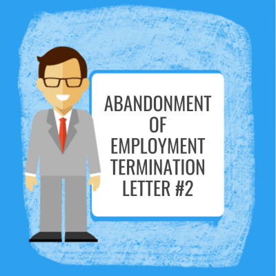 Abandonment of Employment Termination - Letter #2