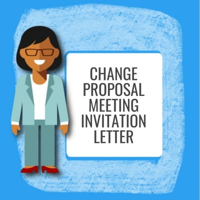 Change Proposal Meeting Invitation Letter