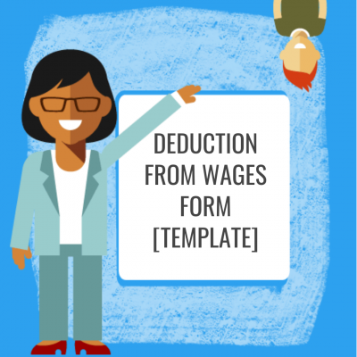 Deduction from Wages Form [Template]