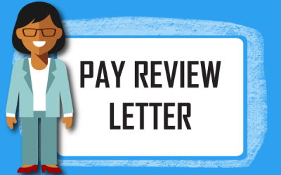 What must employers include in an employee pay review letter.
