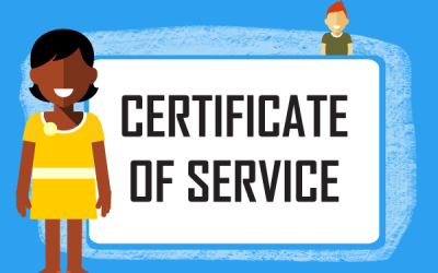What is an employee Certificate of Service and when would you issue one?