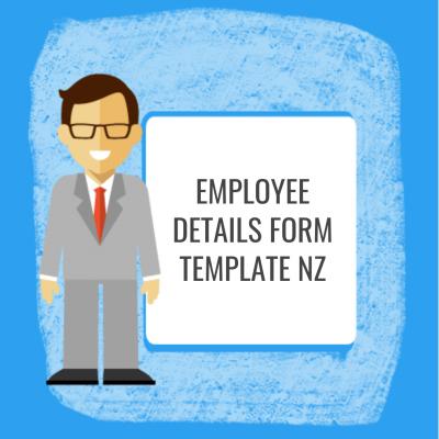 Employee Details Form Template NZ
