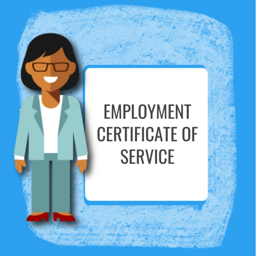 Employment Certificate of Service