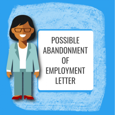 Possible Abandonment of Employment Letter
