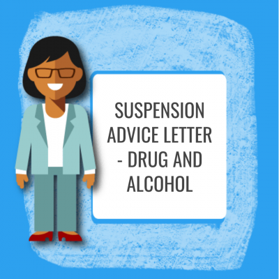 Suspension Advice Letter - Drug and Alcohol