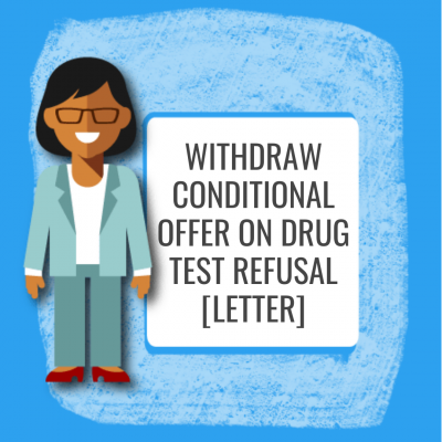 Withdraw Conditional Offer on Drug Test Refusal [Letter]