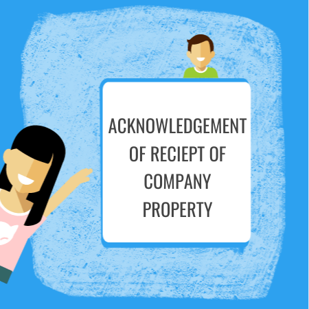 acknowledgement of receipt of company property
