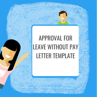 approval for leave without pay letter template