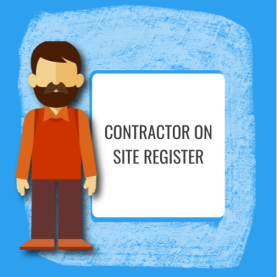 contractor on site register