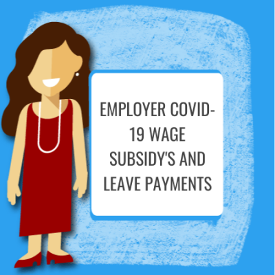 employer covid 19 wage subsidy and leave payments