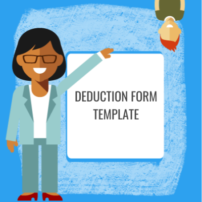 deduction form template