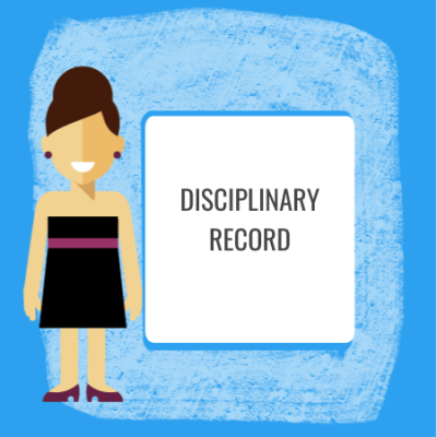 disciplinary record