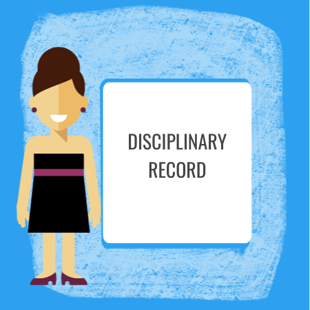 disciplinary record