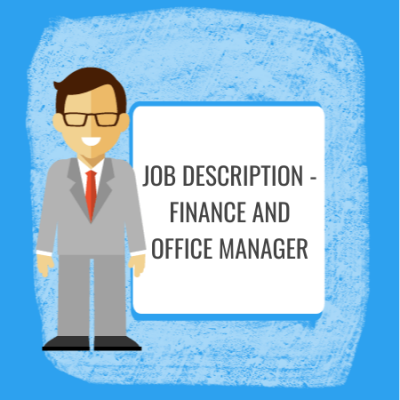 job description - finance & office manager