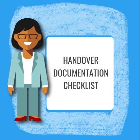 handover documentation checklist