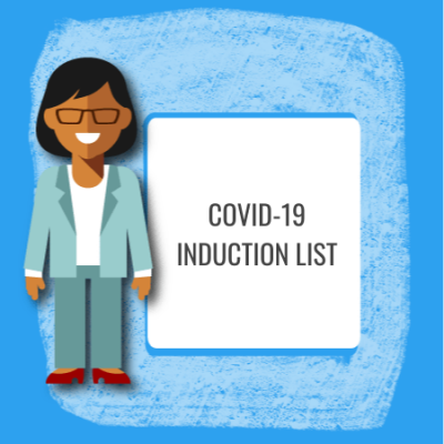covid 19 induction list