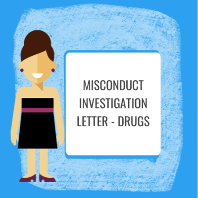 misconduct investigation letter on drugs