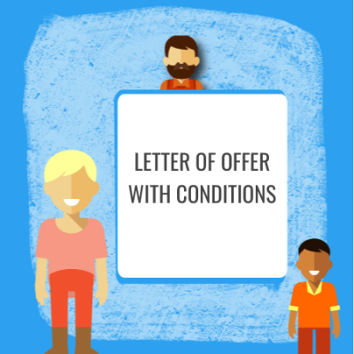 letter of offer with conditions