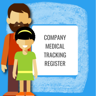 company medical tracking register