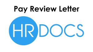 pay review letter template