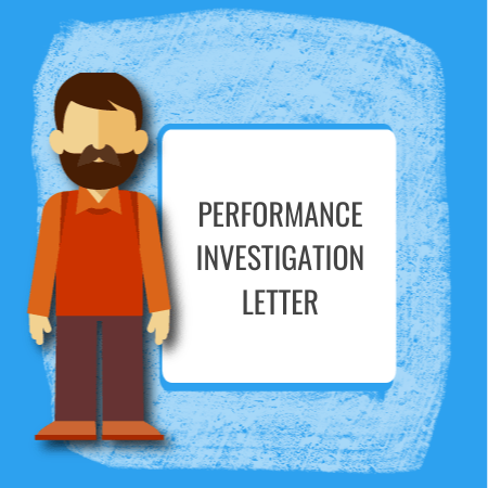performance investigation letter