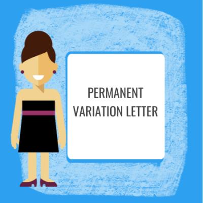 permanent variation letter
