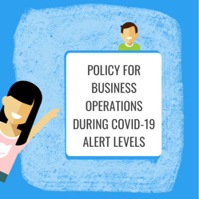 policy for business operations during covid 19 alert levels