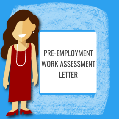 pre-employment work assessment letter