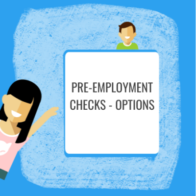 pre-employment checks options