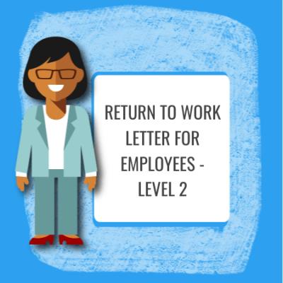 return to work letter level 2
