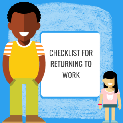 checklist for returning to work