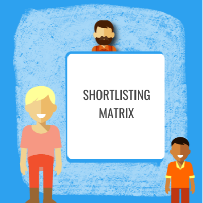 shorlisting matrix