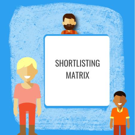 shorlisting matrix