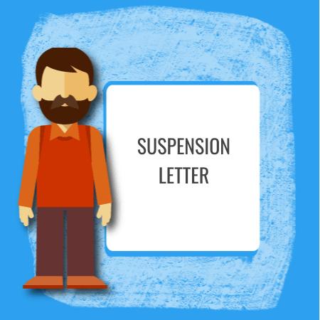 suspension letter