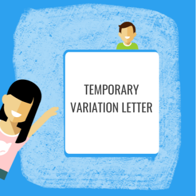 temporary variation letter