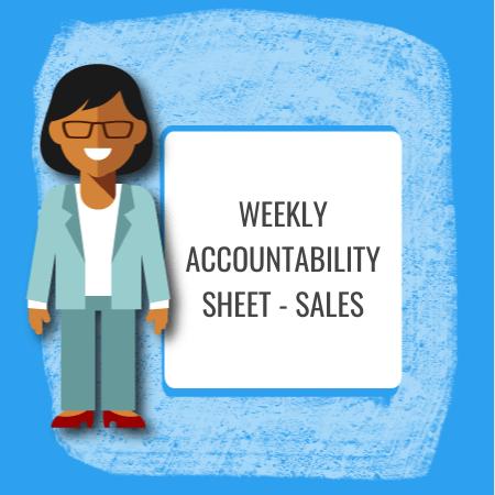 weekly accountability sheet - sales